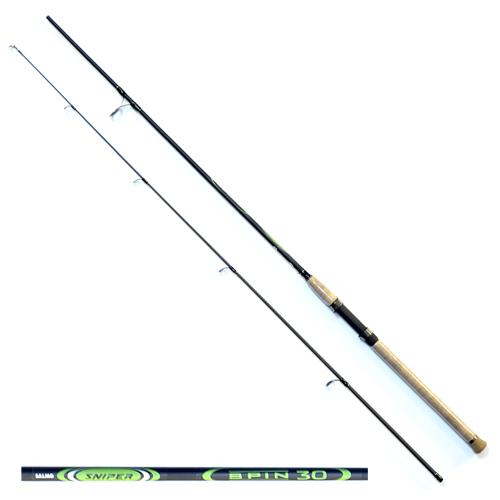Спиннинг Salmo Sniper Spin 30 2.40Спинниги<br>Удилище спин. Salmo Sniper SPIN 30 2.40 дл.2.40м/тест <br>10-30г/строй MF/кл.M/210г/2ч./дл.тр.125см Универсальный <br>спиннинг средне-быстрого строя для ловли <br>на различные приманки, изготовленный из <br>композита. Бланк спиннинга укомплектован <br>облегченными кольцами на высоких ножках <br>со вставками SIC и элегантной рукояткой с <br>пробковым покрытием и облегченным буфером <br>на торце. Соединение колен спиннинга по <br>типу OVER STEEK. Все спиннинги имеют одинаковый <br>тест 10-30 г. • Материал бланка удилища – <br>композит • Строй бланка средне-быстрый <br>• Класс спиннинга M • Конструкция штекерная <br>• Соединение колен типа OVER STEEK • Кольца <br>пропускные: – облегченные большие – со <br>вставками SIC – с расстановкой по классической <br>концепции • Рукоятка: – пробковая • Катушкодержатель: <br>– винтового типа • Проволочная петля для <br>закрепления приманок<br><br>Сезон: лето