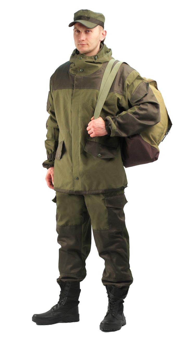 Костюм мужской Горка 3 демисезонный палатка Костюмы неутепленные<br>Куртка: • свободного кроя; • застёжка центральная <br>супатная, на петлю и пуговицу; • кокетка, <br>накладки и карманы из отделочной ткани; <br>• 2 нижних прорезных кармана с клапаном, <br>на петлю и пуговицу ; • внутренний отлетной <br>карман на пуговицу; • на рукавах по 1 накладному <br>наклонному карману с клапаном на петлю <br>и пуговицу • в области локтя усиливающие <br>фигурные накладки; • низ рукавов на резинке; <br>• капюшон двойной, с козырьком, имеет утягивающую <br>кулису для регулировки по объему ; • подгонка <br>по талии с помощью кулиски; Брюки: • свободного <br>покроя; • гульфик с застёжкой на петлю и <br>пуговицу; • 2 верхних кармана в боковых <br>швах, • в области коленей, на задних половинках <br>брюк в области сидения – усиливающие накладки; <br>• 2 боковых накладных кармана с клапаном; <br>• 2 задних накладных фигурных кармана на <br>пуговицах; • крой деталей в области коленей <br>препятствует их вытягиванию; • Пылезащитная <br>юбка из бязи по низу брюк; • задние половинки <br>под коленом собраны резинкой; • пояс на <br>резинке; • низ на резинке.<br><br>Пол: мужской<br>Размер: 52-54<br>Рост: 182-188<br>Сезон: демисезонный<br>Материал: «Палаточное полотно» (100% хлопок), пл. 270
