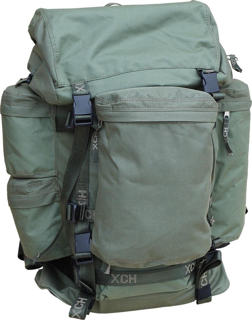 Рюкзак охотника ХСН №2 (70 литров) (9171-1)Рюкзаки<br>Отлично подойдет любителям активного отдыха <br>и походов. Изготовлен из водооталкивающего <br>материала. Объем 70 литров. Особенности: <br>- специальная система для крепления оружия; <br>- съемный карман; - S образные анатомические <br>лямки; - удобный поясной ремень; - четыре <br>наружных кармана на молнии; - объемный клапан <br>с карманом; - грудной фиксатор; - пряжки-самосбросы.<br><br>Пол: унисекс<br>Сезон: Всесезонная<br>Цвет: оливковый<br>Материал: Oxford 600 D PU рип-стоп