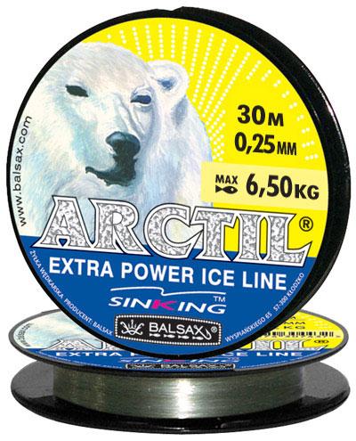 Леска BALSAX Arctil 30м 0,25 (6,5кг)Леска монофильная<br>Леска Arctil - создана специально для зимней <br>ловли. Очень хорошо выдерживает низкую <br>температуру. Поверхность обработана таким <br>образом, что она не обмерзает как стандартные <br>лески. Отлично подходит для подледного <br>лова. Даже в самом холодном климате, при <br>температуре до -40, она сохраняет свои свойства.<br><br>Сезон: зима