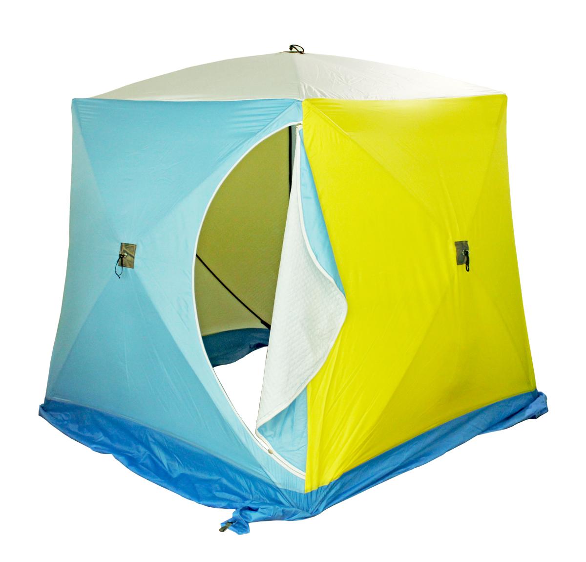 Палатка рыбака КУБ-2 трехслойная (Стэк)