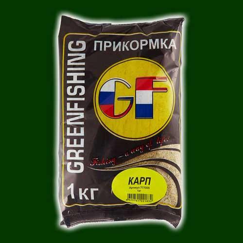 Прикормка Gf Карп 1.000КгПрикормки<br>Прикормка GF КАРП 1.000кг пакет 1кг/ароматика: <br>слива+мед/цвет: желтый Фракция прикорма <br>однородная и достаточно ровная 100-200 мкм, <br>с хорошим по-фракционным распадом на дне. <br>Цвет прикормки – темно-коричневый, зеленый, <br>рыжий и красный исходя из предпочтения <br>рыб и условий лова. Необходимую клейкость <br>и «темное облако» обеспечивает смесь клеев, <br>на основе бентонита разработанных командой <br>ООО «Энергия» процент содержания клея до <br>2%. В прикормке используются ароматизаторы <br>производства Франции. Состав данной серии <br>защищен патентом РФ.<br><br>Сезон: лето