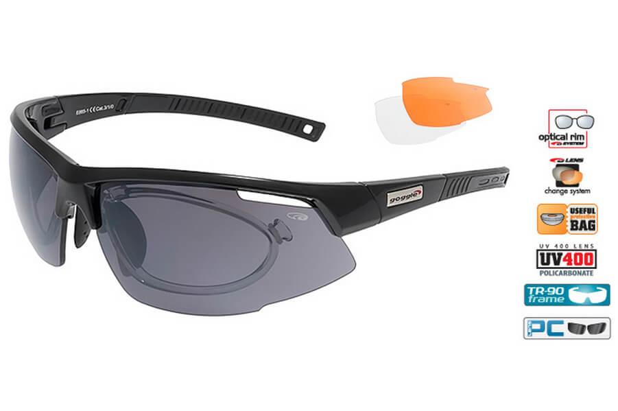 Очки солнечные E865-1RОчки для активного отдыха<br>Очки солнечные E865-1R<br>Очки произведены из очень стойкого и легкого <br>материала: поликарбоната, линзы которого <br>обладают высокой оптической точностью <br>и обеспечивают защиту от UVA и UVB, уникальная <br>конструкция позволяет использовать одни <br>и те же очки при занятиях спортом, на отдыхе. <br>Благодаря многослойному характеру линзы, <br>которая сделана из углеродистых волокон, <br>ее толщина идеально ровная, что устраняет <br>все деформации и нарушения зрения. Контурные <br>мягкие вставки из пены тесно прилегают <br>к лицу, давая ощущение комфорта даже при <br>долгом ношении. <br>Оригинальная конструкция шарнира позволяет <br>регулировать угол заушников и изменить <br>положение очков так, чтобы они идеально <br>прилегали к лицу и уникальной форме головы <br>пользователя. <br>Эластичный ремешок очков можно заменить <br>на наушники.<br><br>Пол: унисекс