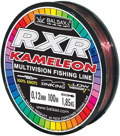 Леска BALSAX RXR Kamelion 100м 0,12 (1,85кг)Леска монофильная<br>Леска RXR Kamelion - отличается высокой прочностью <br>при растяжении и прочностью в местах вязки <br>узлов. Не меняет форму и не скручивается. <br>Благодаря особым условиям производства <br>способна изменять цвет.<br><br>Сезон: лето