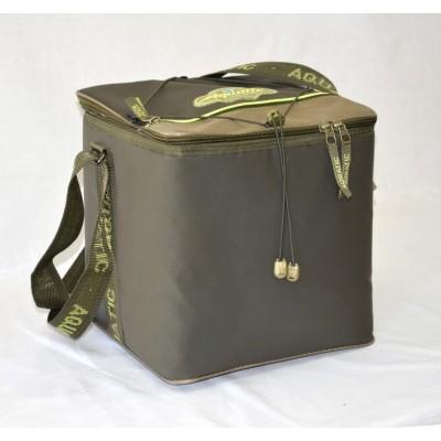 Термо-сумка Aquatic 28х28х28Изотермические сумки и термобоксы<br>Сумка-термос изготовлена из материала <br>ПВХ и разработана для хранения и транспортировки <br>охлажденных продуктов, бойлов и т.д. Размеры: <br>28 см. х 28 см. х 28 см.<br>