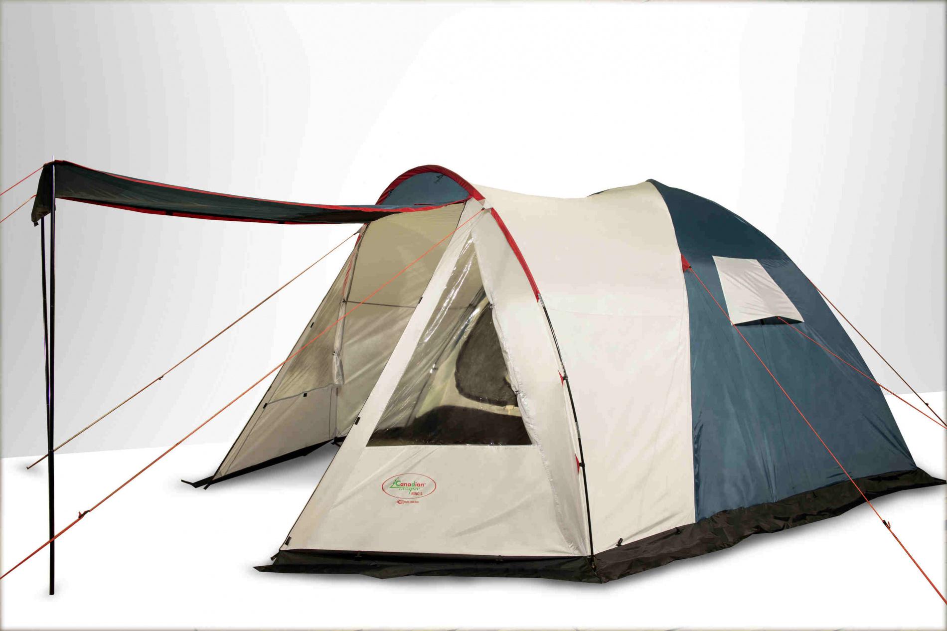 Палатка Canadian Camper RINO 5 (цвет royal дуги 11мм )Палатки<br>Особенности: - большая спальная комната; <br>- вместительный дуговой тамбур; - минимальный <br>вес.<br><br>Сезон: лето<br>Цвет: синий