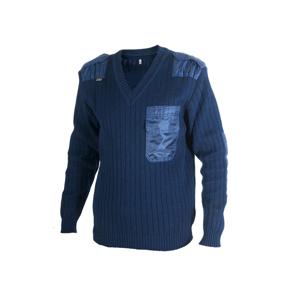 Пуловер ХСН (701-2) (Синий, 54/188, 701-2)Джемпера<br>Джемпер мужской выполнен из пряжи-двунитки <br>плотным комбинированным переплетением. <br>Для более длительного использования нашиты <br>усиленные вставки из ткани: наплечники, <br>погоны и налокотники.<br><br>Пол: мужской<br>Размер: 54/188<br>Сезон: все сезоны<br>Цвет: синий<br>Материал: 30% шерсть, 70% синтетика