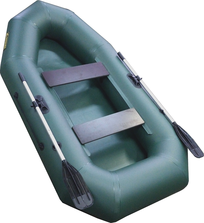 Лодка ПВХ Компакт-255 гребная (С-Пб) (цвет Лодки гребные<br>Гребная надувная лодка Компакт 255 —лодка <br>рассчитана на одного или двух пассажиров. <br>Удобно упаковывается в специальную сумку-рюкзак. <br>- Лодка «Компакт» состоит из одного замкнутого <br>баллона, разделенного перегородками на <br>2 отсека, что позволит лодке остаться на <br>плаву даже при случайном проколе баллона. <br>- Корпус лодки «Компакт» изготавливается <br>из 5-ти слойной ткани ПВХ корейского производства <br>MIRASOL, являющейся одной из лучших на рынке. <br>Используется ткань плотностью 750 г/м.кв. <br>Реальный срок службы лодки из ПВХ составляет <br>больше 15 лет. За счёт материала лодка подходит <br>для эксплуатации в различных условиях — <br>в тихих закрытых водоёмах, на волне или <br>порожистых реках, среди коряг и камышей. <br>Лодки из ПВХ не требуют специальной обработки <br>после использования и на период хранения. <br>- швы лодки соединены современным методом <br>«горячей сварки». Ткань соединяется встык, <br>с проклейкой с двух сторон лентами из основного <br>материала шириной 4 см на специальной машине. <br>Для склейки применяется клей на полиуретановой <br>основе, который, вступая в химический контакт <br>с материалом склеиваемых поверхностей, <br>соединяется с тканью на молекулярном уровне <br>и получается единое полотно. - раскрой материала <br>для лодок «Компакт» производится с использованием <br>современной вычислительной техники, в результате <br>чего человеческий фактор сведен к минимуму, <br>что гарантирует идеальную геометрию лодки <br>и исключает возможность брака. - по бортам <br>внутри корпуса для банок установлена система <br>«Ликтрос - Ликпаз», основным преимуществом <br>которой является подвижность что позволяет <br>удобно разместится в лодке людям разной <br>весовой категории. Банки изготовлены из <br>фанеры толщиной 18 мм. - леерный пояс, установленный <br>на баллоне, обеспечивает безопаснось пассажирам <br>и дополнительное удобство переноски. -якорный <br>рым на 