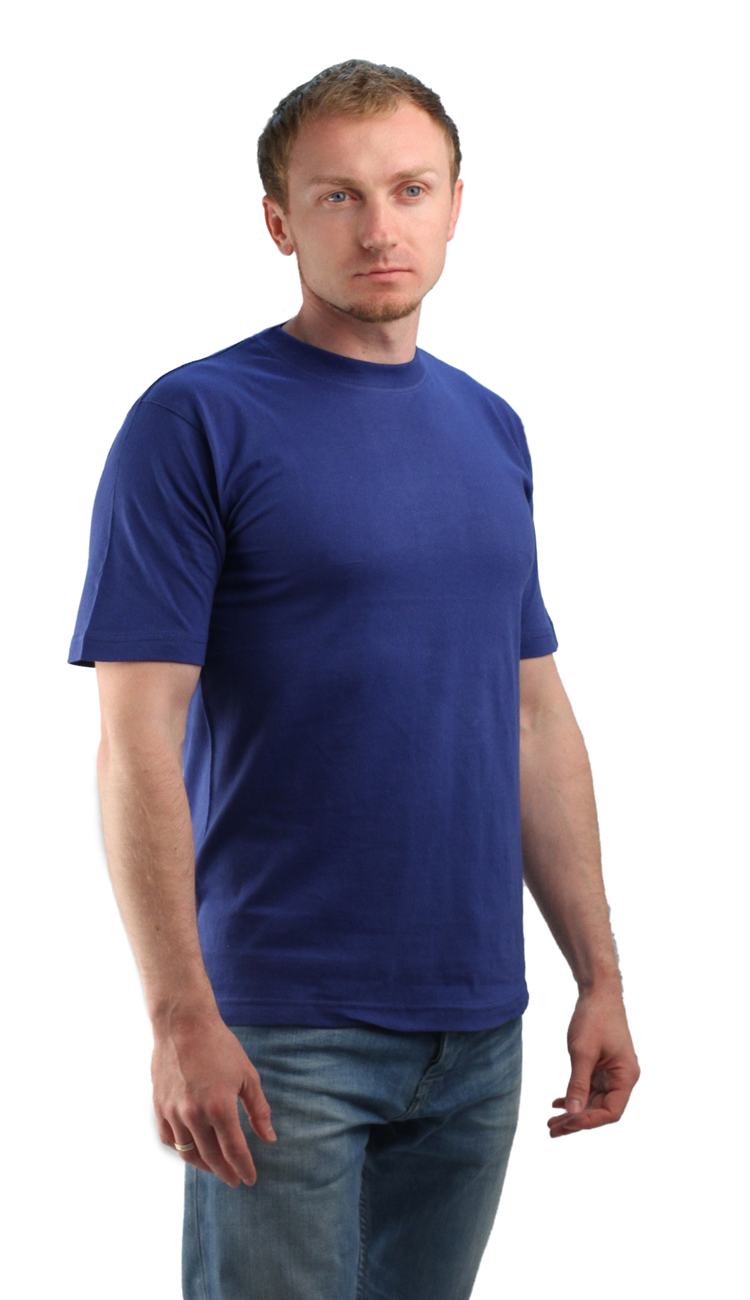 Футболка васильковая (L)Футболки к/рукав<br>Классическая футболка из мягкого эластичного <br>трикотажа. - прямой силуэт - короткий рукав <br>- круглый вырез горловины Размеры: M-XXXL<br><br>Пол: мужской<br>Размер: L<br>Сезон: все сезоны<br>Цвет: синий<br>Материал: Трикотаж (95% - х/б, 5% - лайкра), пл. 160 г/м2.