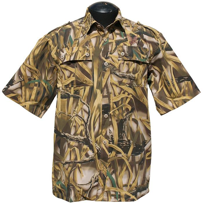 Рубашка ХСН Фазан короткий рукав (9456-3) Рубашки к/рукав<br>Рубашка мужская прекрасно подойдет для <br>ношения летом. На рубашке нашиты накладные <br>карманы. Для защиты от влаги материал обработан <br>водоотталкивающей пропиткой.<br><br>Пол: мужской<br>Размер: 50/170-176<br>Сезон: лето<br>Цвет: коричневый<br>Материал: 95% хлопок, 5% спандекс