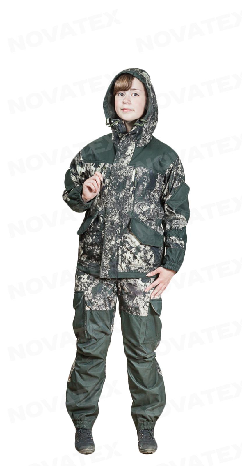 Костюм «Горка NEW» NOVA-TEX (дуплекс, 130-6-1) PAYER Костюмы неутепленные<br>Костюм «Горка New» (ТМ «Payer») от Novatex разработан <br>на основе легендарного костюма «Горка». <br>Костюм состоит из куртки и брюк на подтяжках. <br>Отличается специальным анатомическим кроем, <br>характерным для данной линии одежды. Он <br>не стесняет движений, дает свободу перемещения <br>в условиях пересеченной местности. Костюм <br>изготовлен из современной ткани, обладающей <br>отличными ветрозащитными свойствами, подкладка-сетка <br>обеспечивает комфорт и пароотведение. Места <br>повышенного износа имеют дополнительное <br>усиление мембранной тканью «кошачий глаз», <br>которая не пропускает влагу снаружи, отводит <br>ее изнутри и обладает повышенной износостойкостью. <br>Рекомендован для военных, охотников, рыбаков, <br>туристов, любителей военно-спортивных игр, <br>представителей силовых структур.<br><br>Пол: унисекс<br>Размер: 40-42<br>Рост: 158-164<br>Сезон: лето<br>Цвет: зеленый