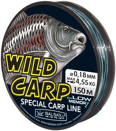 Леска BALSAX Wild Carp 150м 0,18 (4,55кг)Леска монофильная<br>WILD CARP - ДИКИЙ КАРП - это чувствительная леска <br>для ловли сазана. Она превосходно выдерживает <br>на узлах максимальное напряжение, связанное <br>с ловлей крупного карпа. Леска WILD CARP ? ДИКИЙ <br>КАРП имеет повышенный срок эксплуатации <br>и она очень чувствительна. Отличается хорошей <br>прочностью даже на мокрых узлах. Идеально <br>подобранный цвет ? с черными и синими участками, <br>благодаря чему леска гармонирует с природной <br>водной средой.<br><br>Сезон: лето
