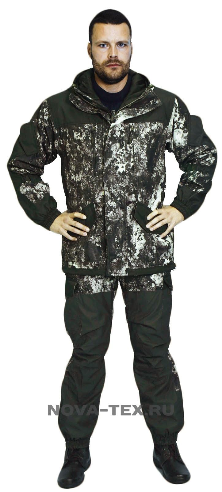 Костюм мужской Горка Осень-Дуплекс (130-61-1), Костюмы утепленные<br>Костюм «Горка Осень» ( ТМ «Payer») - разработан <br>в компании Novatex на основе легендарного костюма <br>«Горка», используемого в спецподразделениях, <br>а также огромным числом любителей всевозможного <br>экстрима. Костюм «Горка Осень» состоит <br>из куртки и брюк на подтяжках. Отличается <br>специальным анатомическим кроем, характерным <br>для данной линии одежды. Он не стесняет <br>движений, дает свободу перемещения в условиях <br>пересеченной местности. Верхний слой изготовлен <br>из современной ткани «Дуплекс», обладающей <br>отличными ветрозащитными свойствами, подкладка <br>из мягкого гипоаллергенного флиса обеспечивает <br>комфорт и тепло. Места повышенного износа <br>имеют дополнительное усиление мембранной <br>тканью «кошачий глаз», которая не пропускает <br>влагу снаружи, отводит ее изнутри и обладает <br>повышенной износостойкостью. Рекомендован <br>для военных, охотников, рыбаков, туристов, <br>любителей военно-спортивных игр, представителей <br>силовых структур. Особенности модели: -ветрозащитная <br>ткань -двойная ветрозащитная планка -анатомический <br>крой -двухзамко<br><br>Пол: мужской<br>Размер: 52-54<br>Рост: 182-188<br>Сезон: лето<br>Цвет: серый<br>Материал: текстиль