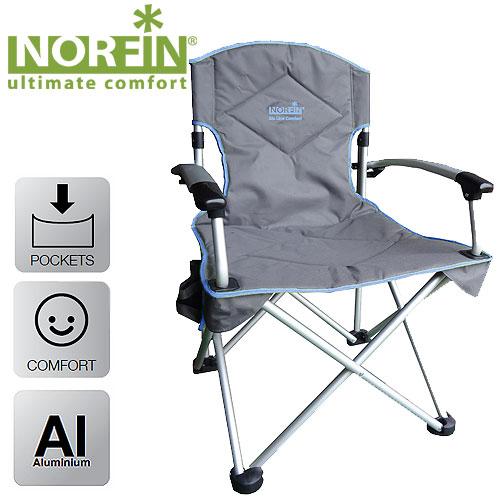Кресло Складное Norfin Orivesi Nfl АлюминиевоеСтулья, кресла<br>Складное кресло - прекрасный выбор для <br>ценящих комфорт рыбаков. Алюминиевый каркас <br>и сиденье большого размера позволят выдержать <br>даже большие нагрузки. Обтекаемые подлокотники <br>из алюминия, боковой карман для мелочей. <br>Особенности: - габариты 67x61x98 см; - размер <br>в сложенном виде 90x22x32 см; - максимальная <br>нагрузка 120 кг; - каркас алюминий 22 мм.<br><br>Сезон: лето<br>Цвет: синий<br>Материал: 600D polyester