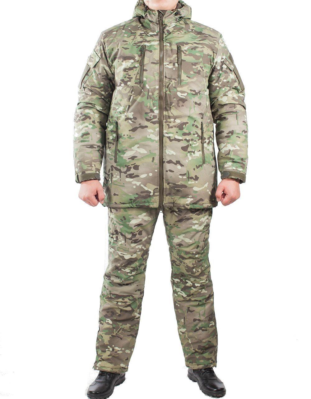 Костюм зимний МПА-38-01 (мембрана, мультикам), Костюмы утепленные<br>Костюм состоит из брюк с плечевой разгрузочной <br>системой, а также куртки со съемным капюшоном <br>и утепляющей подкладкой. Разработан для <br>подразделений воооруженных сил, действующих <br>в условиях экстремального холода (до -50 <br>градусов Цельсия). ХАРАКТЕРИСТИКИ ЗАЩИТА <br>ОТ ХОЛОДА ДЛЯ ИНТЕНСИВНЫХ НАГРУЗОК ДЛЯ <br>АКТИВНОГО ОТДЫХА ТОЛЬКО РУЧНАЯ СТИРКА МАТЕРИАЛЫ <br>МЕМБРАНА УТЕПЛИТЕЛЬ ФАЙБЕРСОФТ<br><br>Пол: мужской<br>Размер: 52<br>Рост: 176<br>Сезон: зима<br>Цвет: зеленый<br>Материал: мембрана