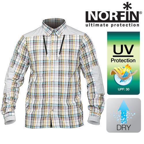 Рубашка Norfin Summer Long Sleeves (M, 653002-M)Рубашки д/рукав<br>Сшита из синтетической ткани, которая отлично <br>«дышит», очень быстро высыхает, хорошо защищает <br>кожу тела рыболова от ультрафиолетовых <br>лучей. Хорошо подходит для активного отдыха <br>на природе, а также для повседневной носке <br>в жаркие летние дни. Особенности: - воротничок, <br>застегивающийся с помощью пуговиц; - два <br>нагрудных кармана на молниях; - степень <br>защиты нейлона от солнечного излучения <br>UPF равно 30 единицам.<br><br>Пол: мужской<br>Размер: M<br>Сезон: лето<br>Цвет: желтый<br>Материал: текстиль