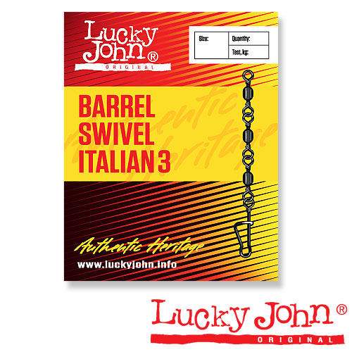 Вертлюги C Застежкой Lucky John Barrel3 And Italian 012 10Шт. LJ5035-012