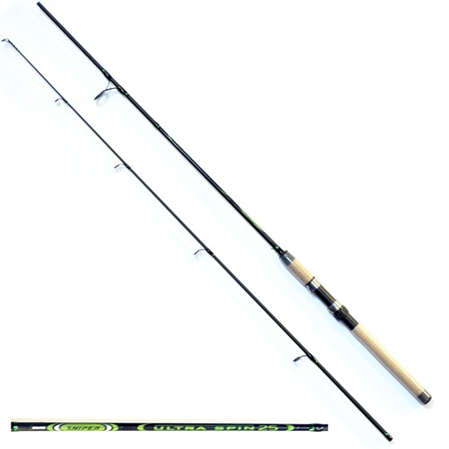 Спиннинг Salmo Sniper Ultra Spin 25 2.40Спинниги<br>Удилище спин. Salmo Sniper ULTRA SPIN 25 2.40 дл.2.40м/тест <br>5-25г/строй M/кл.M/190г/2ч./дл.тр.125см Универсальный <br>спиннинг среднего строя из композита. Бланк <br>имеет классическую расстановку колец со <br>вставками SIC на одной ножке крепления, а <br>самое большое – на двух, стык колен спиннинга <br>произведен по типу OVER STEEK. Ручка имеет классический <br>катушкодержатель с нижней гайкой крепления <br>и пластиковый наконечник на торце. • Материал <br>бланка удилища – композит • Строй бланка <br>средний • Класс спиннинга M • Конструкция <br>штекерная • Соединение колен типа OVER STEEK <br>• Кольца пропускные: – усиленные – со вставками <br>SIC – с расстановкой по классической концепции <br>• Рукоятка: пробковая • Катушкодержатель: <br>– винтового типа • Проволочная петля для <br>закрепления приманок<br><br>Сезон: лето
