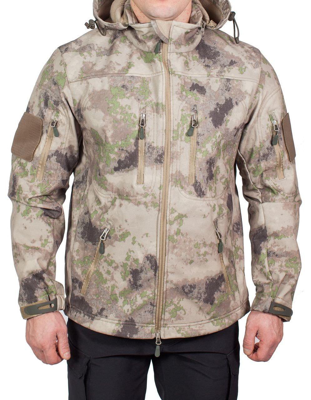 Куртка МПА-26-01 КМФ (софтшелл, песок), Magellan Куртки софтшелл (Softshell)<br>Куртка МПА-26-01 предназначена для поддержания <br>комфортной температуры тела в холодное <br>время года при активной физической деятельности, <br>при ветре и дожде. Эффективно отводит пар <br>от тела, не пропускает влагу извне. ХАРАКТЕРИСТИКИ <br>ЗАЩИТА ОТ ХОЛОДА ЗАЩИТА ОТ ДОЖДЯ И ВЕТРА <br>ДЛЯ ИНТЕНСИВНЫХ НАГРУЗОК ДЛЯ АКТИВНОГО <br>ОТДЫХА ТОЛЬКО РУЧНАЯ СТИРКА МАТЕРИАЛЫ СОФТШЕЛЛ <br>ФЛИС МЕМБРАНА<br><br>Пол: мужской<br>Сезон: демисезонный<br>Цвет: бежевый<br>Материал: мембрана