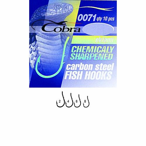 Крючки Cobra Okiami Сер.0071Bz Разм.008 10Шт. C0071BZ-008