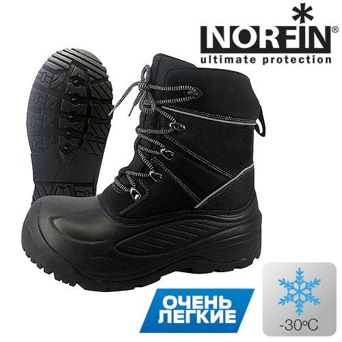 Ботинки Зимние Norfin Discovery (46, 14960-46)Ботинки для активного отдыха<br>Ботинки зим. Norfin DISCOVERY, мат.EVA, резина/темп.-30град.С <br>Тёплые универсальные зимние ботинки, разработанные <br>специально для любителей зимней рыбалки. <br>для повышения стабильности и износостойкости, <br>в носовой части и на пятке используется <br>особо прочная резина. гибкая и надежная <br>резиновая подошва обеспечивает безопасное <br>сцепление с ледяной и скользкой поверхностью. <br>Вынимаемый вкладыш имеет трехслойную конструкцию, <br>в которую входят термоизолирующие материалы <br>– войлок, фольгированная ткань и полиэстер. <br>для обеспечения дополнительной термоизоляции <br>ног, внутренняя подкладка сапог оснащена <br>высококачественным утеплителем Thinsulate™. <br>EVA галоша с резиновой подошвой Вынимаемый <br>термоносок фольга, защищёная сеткой полиэстер <br>400g Thinsulate материал голенища: PU/ 1200D нейлон. <br>Материалы: Верхняя часть: 1200d НЕЙЛОН + PU Подошва: <br>РЕЗИНА + EVA Утеплитель: Thinsulate™ (100% полиэстер)<br><br>Пол: мужской<br>Размер: 46<br>Сезон: зима<br>Цвет: черный