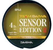 Леска DAIWA TD Sensor Edition II 4lb 100м (оливковая)Леска монофильная<br>» Высококачественная монофильная леска, <br>производимая в Японии » Оптимальное соотношение <br>чувствительности и эластичности » Низкий <br>коэффициент растяжимости обеспечивает <br>полный контроль над проводкой и надежную <br>подсечку » Малозаметная в воде оливковая <br>расцветка » Размотка по 100м<br><br>Сезон: лето