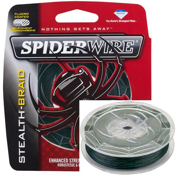 Леска плетеная SPIDERWIRE STEALTH 0.38mm (137m)(36.33kg)(темно-зеленая)Леска плетеная<br>Все плетеные шнуры семейства Stealth имеют <br>теперь более стойкую окраску и лучшие характеристики <br>забросов - до 15% увеличение дальности. Сделаны <br>из волокон РЕ. Шнур обработан под давлением <br>по специальной технологии Teflon®. Сверхгладкая <br>поверхность.<br>