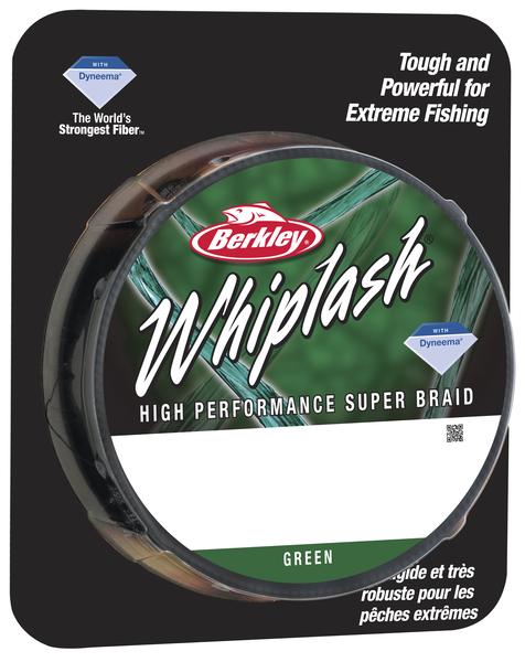 Леска плетеная BERKLEY WHIPLASH 0.12mm (110m)(16.7kg)(темно-зеленая)Леска плетеная<br>Исключительно прочный шнур идеально подойдет <br>рыболовам, которым нужен действительно <br>прочный шнур. Троллинг, глубоководная ловля <br>на джиг, ловля крупных сомов, карпов – везде <br>можно использовать шнур Whiplash.<br>