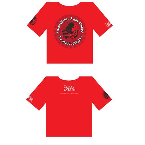 Футболка Lucky John Красная (XL, LJ-102-XL)Футболки к/рукав<br>Футболка Lucky John красная, мат.95% хлопок , 5% <br>Spandex<br><br>Пол: мужской<br>Размер: XL<br>Сезон: лето<br>Цвет: красный<br>Материал: текстиль