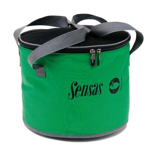 Ведро Sensas Team Fabric Bowl 25ЛЕмкости<br>Ведро Sensas TEAM FABRIC BOWL 25л объём 25л Ведро мягкое <br>для приготовления прикормки из водонепроницаемого <br>материала с двумя удобными ручками-лямками. <br>Комплектуется крышкой на молнии, что позволит <br>защитить вашу прикормку от дождя и выветривания. <br>Объём 25л.<br><br>Сезон: Летний
