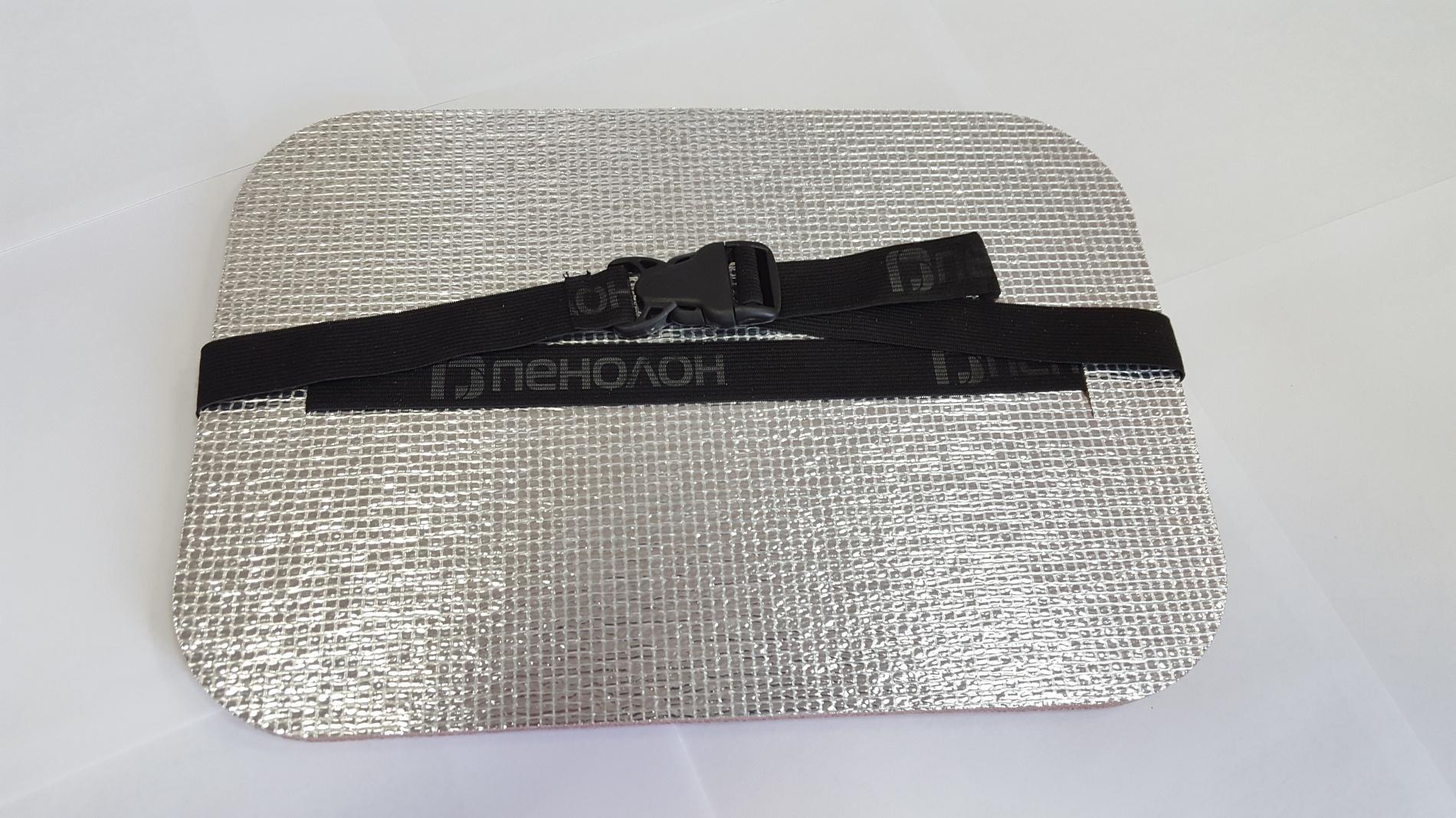 Коврик (сидушка металлизированная) 350*240*15 КОВ101