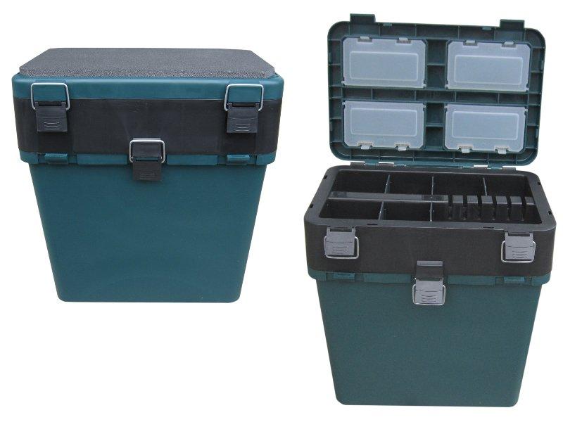 Ящик-М зимний HELIOS зеленый (Тонар)Ящики рыболова<br>Ящик зимний позволит аккуратно хранить <br>рыболовные принадлежности. В нижнем отделении <br>можно хранить удочки, рыбу, одежду и другие <br>крупные аксессуары для зимней ловли. В крышке <br>ящика есть несколько отделений для хранения <br>мелочей. В комплекте к зимнему ящику идет <br>широкий ремешок для удобной транспортировки <br>ящика на льду. Ящик изготовлен из ударопрочного, <br>морозостойкого пластика (до - 40 С). Не пропускает <br>и не впитывает воду. Надежная крышка ящика <br>имеет комфортное мягкое сидение. (первичное <br>сырье) Максимальная нагрузка - 130 кг, объем <br>– 19 л. Размер ящика: 36 х 39 х 18/23 см.<br>
