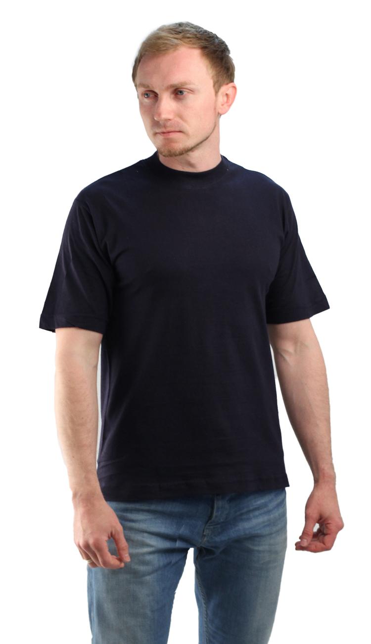 Футболка т-синяя (L)Футболки к/рукав<br>Классическая футболка из мягкого эластичного <br>трикотажа. - прямой силуэт - короткий рукав <br>- круглый вырез горловины Размеры: M-XXXL<br><br>Пол: мужской<br>Размер: L<br>Сезон: все сезоны<br>Цвет: синий<br>Материал: Трикотаж (95% - х/б, 5% - лайкра), пл. 160 г/м2.