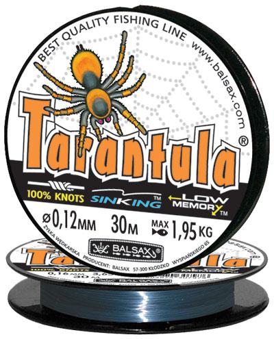 Леска BALSAX Tarantula 30м 0,12 (1,95кг)Леска монофильная<br>Леска Tarantula - эта леска как никакая другая <br>защищена от скручивания. В случае применения <br>этой лески растяжимость является отличным <br>достоинством и как амортизатор защищает <br>остнастку от обрыва.Даже в самом холодном <br>климате, при температуре до -40, она сохраняет <br>свои свойства.<br><br>Сезон: зима