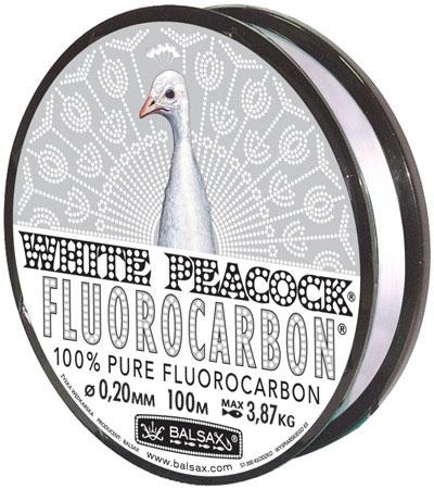 Леска BALSAX White Peacock Fluorocarbon 100м 0,20 (3,87кг)Леска монофильная флюорокарбоновая<br>Леска White Peacock Fluorocarbon - абсолютна невидима <br>в воде, тонет очень быстро, не теряет прочности, <br>высокая сопротивляемость.<br><br>Сезон: лето