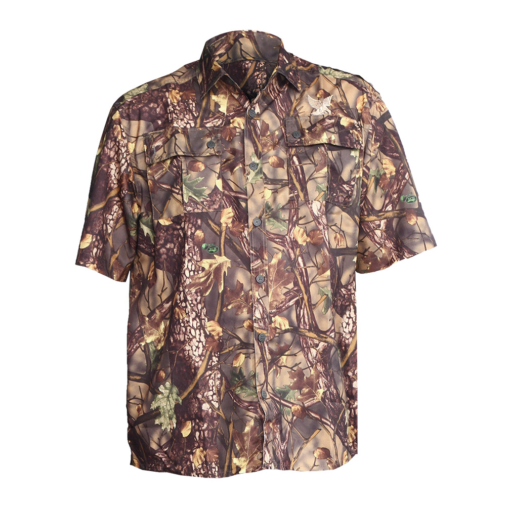 Рубашка ХСН «Бриз» короткий рукав (9457-2) Рубашки к/рукав<br>Рубашка мужская подойдет для ношения летом. <br>На рубашке есть накладные карманы. Материал <br>обработан водоотталкивающей пропиткой. <br>Комфортная температура эксплуатации от <br>+20°С до +35°С.<br><br>Пол: мужской<br>Размер: 56/170-176<br>Сезон: лето<br>Материал: Смесовая ткань (77% ПЭ, 23% вискоза)