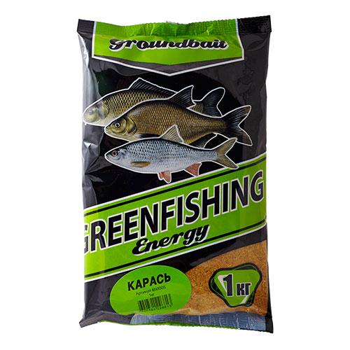 Прикормка Gf Energy Карась 1.000КгПрикормки<br>Прикормка GF Energy КАРАСЬ 1.000кг пакет 1кг/ароматика: <br>специализированная/цвет: желтый «Greenfishing <br>Energy»- новая серия первоклассной прикормки <br>от Компании «Энергия», созданная по оригинальному <br>рецепту, с использованием только лучших <br>ингредиентов от ведущих производителей <br>РФ и Европы. Это тяжелая прикормка с мелкой <br>и средней фракцией, ароматы и цвет ярко <br>выраженные, очень стойкие за счет использования <br>оригинальных технологий и современного <br>оборудования, выходит в виде целевых прикормок, <br>в каждой из которых тщательным образом <br>подобран состав, цвет и аромат к тому или <br>иному виду рыб и условиям ловли. Состав: <br>Бисквит, лен, конопля, кукуруза, злаковые, <br>сахар, соль, утяжелитель, куркума, специи, <br>пеллетс, пищевой краситель, ароматизаторы.<br><br>Сезон: лето