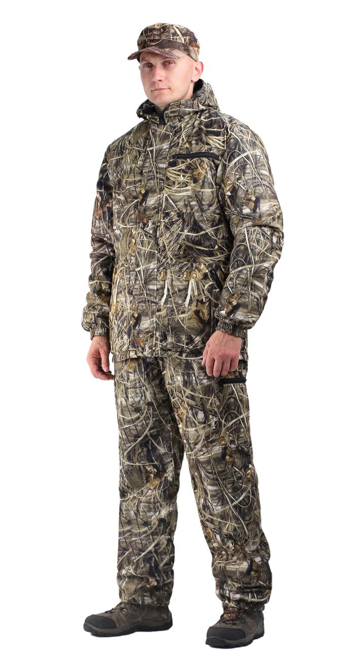 Костюм мужской Турист 1 демисезонный, Костюмы утепленные<br>Камуфлированный унверсальный летний костюм <br>для охоты, рыбалки и активного отдыха . Состоит <br>из куртки с капюшоном и брюк. Куртка: • Регулируемый <br>капюшон. • Центральная застежка молния. <br>• Боковые и нагрудный прорезные карманы <br>на молнии. • Низ куртки и манжеты на резинке. <br>Брюки: • Два врезных кармана и два накладных <br>на молнии. • Пояс и низ брюк на резинке.<br><br>Пол: мужской<br>Размер: 56-58<br>Рост: 182-188<br>Сезон: демисезонный