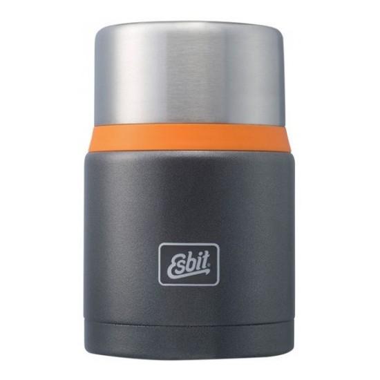 Термос для еды Esbit FJSP, c ложкой, темно-серый Термосы<br>Описание термоса Esbit FJSP-GO: Новый стальной <br>термос для еды с двойными стенками. Просто <br>открыв крышку, которую можно использовать <br>как тарелку, наслаждайтесь горячими блюдами. <br>В комплект входит компактная стальная ложка, <br>крепится внутри в специальное отверстие <br>во внутренней пробке. Термос сохраняет <br>блюда холодными / горячими длительное время. <br>Благодаря широкому горлу его легко мыть. <br>Особенности: высококачественная нержавеющая <br>сталь прочный в комплект входит компактная <br>стальная ложка стальную крышку с двойными <br>стенками можно использовать как тарелку <br>(310 мл) сохраняет пищу холодной / горячей <br>длительное время благодаря широкому горлу <br>удобно паковать блюдо, есть и легко мыть <br>термос Характеристики: При температуре <br>~ 98° C и температуре окружающей среды ~ 20° <br>C ± 2° С температура: через 6 ч: ~ 70° C через <br>12 ч: ~ 60° C через 24 ч: ~ 40° C Технические характеристики: <br>Материал: нержавеющая сталь Размер: 165 х <br>? 109 мм Вес: 548 г Объем: 750 мл<br>