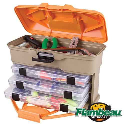 Ящик Рыболовный Пласт. Flambeau T3 Mini Frontloader Ящики рыболова<br>Ящик рыболов. пласт. Flambeau T3 MINI FRONTLOADER ZERUST <br>разм.35,56 x 15,24 x 26,67см Ящик рыболовный пластиковый <br>Компактный размер Комплектуется: 3009 (2 шт.), <br>3011 (1 шт.) С защитой приманок полимером ZERUST® <br>Удобная ручка для переноски<br><br>Сезон: Летний