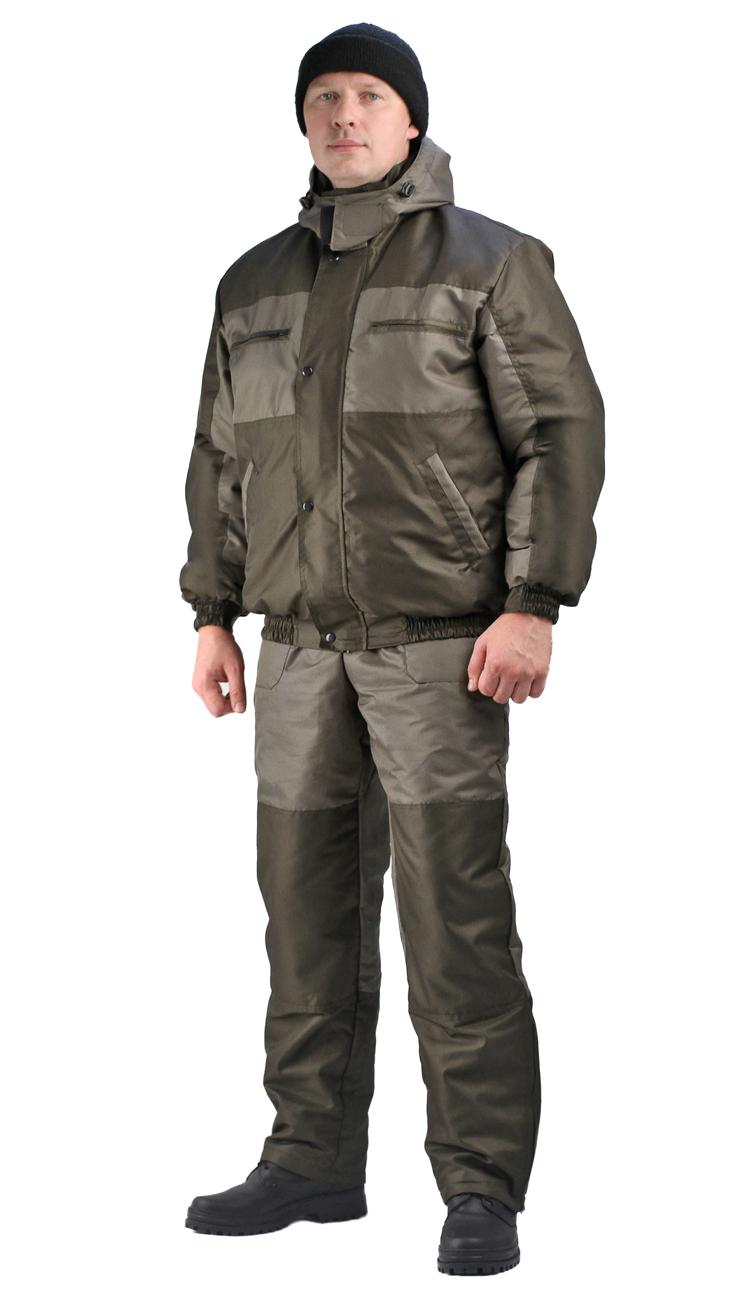 Костюм мужской Вихрь-Ямал зимний хаки Костюмы утепленные<br>Камуфлированный универсальный демисезонный <br>костюм для охоты, рыбалки и активного отдыха. <br>Состоит из укороченной куртки с капюшоном <br>и полукомбинезона. Куртка: • Регулируемый <br>капюшон - воротник на флисе. • Центральная <br>застежка молния закрыта ветрозащитной <br>планкой на кнопках. • Нижние прорезные <br>карманы на молнию, нагрудные накладные <br>карманы с клапаном на кнопке и накладной <br>карман с клапаном на кнопке на рукаве. • <br>Низ куртки и манжеты на широкой резинке. <br>Полукомбинезон • Высокая спинка и полочка <br>• Застежка центральная на молнию.. • Два <br>верхних прорезных кармана и один накладной <br>боковой с клапаном на кнопке • Талия регулируется <br>резинкой. • Низ брюк регулируется шнуром <br>с фиксатором.<br><br>Пол: мужской<br>Размер: 48-50<br>Рост: 182-188<br>Сезон: зима