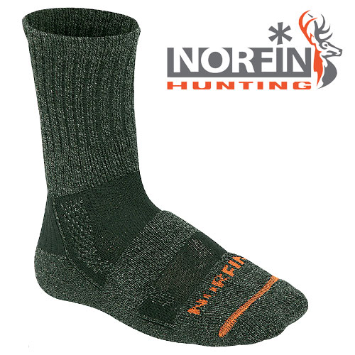 Носки Norfin Hunting 741 (M, 741-M)Носки<br>Носки Norfin Hunting 741 р.L разм.L/мат.70%акрил,22%полиэстер,8%эластик/темп. <br>Холодно Носки с содержанием высококачественного <br>акрила, отводящего излишнюю влагу от ступней <br>ног и удерживающего тепло. Эластичные носки <br>хорошо облегают ступню и щиколотку, удобны <br>и приятны в носке.<br><br>Пол: мужской<br>Размер: M<br>Сезон: зима<br>Цвет: серый