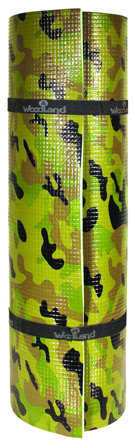 Коврик WoodLand Forest 10 camo (1800x550x10 мм, цвет хаки)Коврики туристические<br>Коврики серии Forest, изготовлены из химически <br>вспененного пенополиэтилена высокого качества, <br>который проходит дополнительный ОТК ,так <br>как это эксклюзивная серия. Рулонные коврики <br>Forest имеют стандартные размеры и комплектуются <br>двумя утяжками из эластичной стропы. На <br>каждом изделии есть индивидуальный стикер <br>с названием и информацией. Forest 10 camo - аналог <br>7102CS, так же имеет плотность 33кг / м? (30 по <br>ШОР). Дублирован усиливающей пленкой (камуфляж), <br>которая выполняет не только декоративные, <br>но и усиливающие функции. Размер: 1800 * 550 <br>* 10 мм Цвет: олива / камуфляж<br>