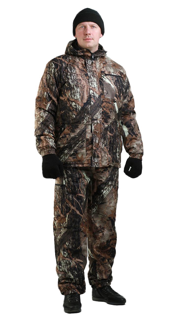 Костюм мужской Турист 1 демисезонный, Костюмы утепленные<br>Камуфлированный унверсальный летний костюм <br>для охоты, рыбалки и активного отдыха . Состоит <br>из куртки с капюшоном и брюк. Куртка: • Регулируемый <br>капюшон. • Центральная застежка молния. <br>• Боковые и нагрудный прорезные карманы <br>на молнии. • Низ куртки и манжеты на резинке. <br>Брюки: • Два врезных кармана и два накладных <br>на молнии. • Пояс и низ брюк на резинке.<br><br>Пол: мужской<br>Размер: 52-54<br>Рост: 182-188<br>Сезон: демисезонный<br>Цвет: коричневый
