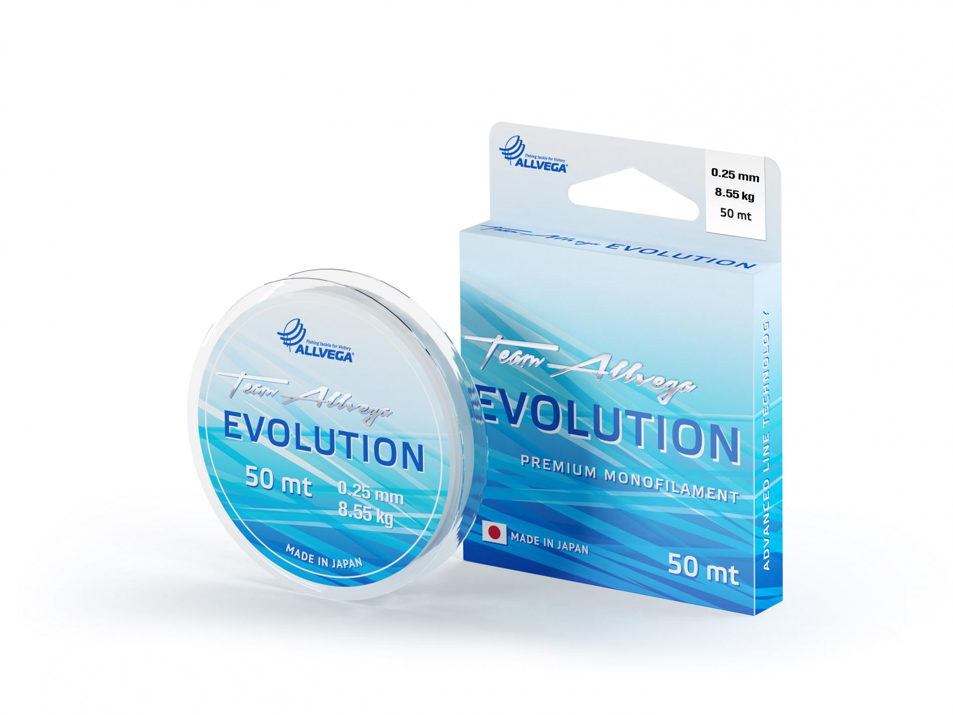Леска ALLVEGA Evolution 0,25мм (50м) (8,55кг) (прозрачная)Леска монофильная<br>Леска EVOLUTION - это результат интеграции многолетнего <br>опыта европейских рыболовов-спортсменов <br>и современных японских технологий! Важнейшим <br>свойством лески является её однородность <br>и соответствие заявленному диаметру. Если <br>появляется неравномерность в калибровке <br>лески и искажается идеальная окружность <br>в сечении, это ведет к потере однородности <br>лески и ослабляет её. В этом смысле, на сегодняшний <br>день леска EVOLUTION имеет наиболее однородную <br>структуру. Из множества вариантов мы выбираем <br>новейшее и наиболее подходящее сырьё, чтобы <br>добиться исключительных характеристик <br>лески, выдержать оптимальный баланс между <br>прочностью и растяжимостью, и создать идеальный <br>продукт для любых условий ловли. Цвет прозрачный. <br>Сделана, размотана и упакована в Японии.<br><br>Сезон: лето