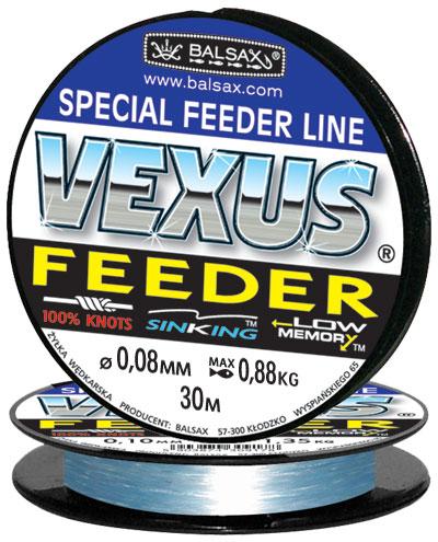 Леска BALSAX Vexus Feeder(Kevlon) 30м 0,08 (0,88кг)Леска монофильная<br>Леска Vexus Feeder (Kevlon) - прочность в местах <br>вязки узлов, высокая сопротивляемость истиранию, <br>малая восприимчивость к ультрафиолетовому <br>излучению, быстрота и легкость погружения <br>- преимущества, необходимые для успешного <br>применения на рыбалке. Даже в самом холодном <br>климате, при температуре до -40, она сохраняет <br>свои свойства.<br><br>Сезон: зима