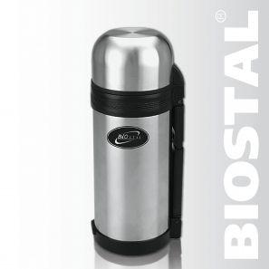 Термос Biostal NG-1200-1 1,2л (универсальный, складная Термосы<br>Легкий и прочный Сохраняет напитки и продукты <br>горячими или холодными долгое время Изготовлен <br>из высококачественной нержавеющей стали <br>Конструкция пробки позволяет использовать <br>термос как для напитков, так и для первых <br>и вторых блюд С удобной ручкой и ремешком <br>для переноски С крышкой-чашкой и дополнительной <br>пластиковой чашкой Гарантия на термос 1 <br>год. Характеристики: Объем: 1,2 литра Высота: <br>26,5 см Диаметр: 10,6 см Вес: 860 г Размеры упаковки: <br>11,2х12,2х27,8 см<br>