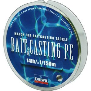 Леска Daiwa Bait Casting Pe 14 lbЛеска плетеная<br>Леска плетеная Bait &amp; Cast PE - изначально была <br>адаптирована производителем под мультипликаторные <br>катушки. Сравнивая с классическими PE шнурами, <br>у лески плетеной Daiwa Bait &amp; Casting прослеживается <br>в несколько раз большая жесткость. Это преимущество <br>с бол...<br>