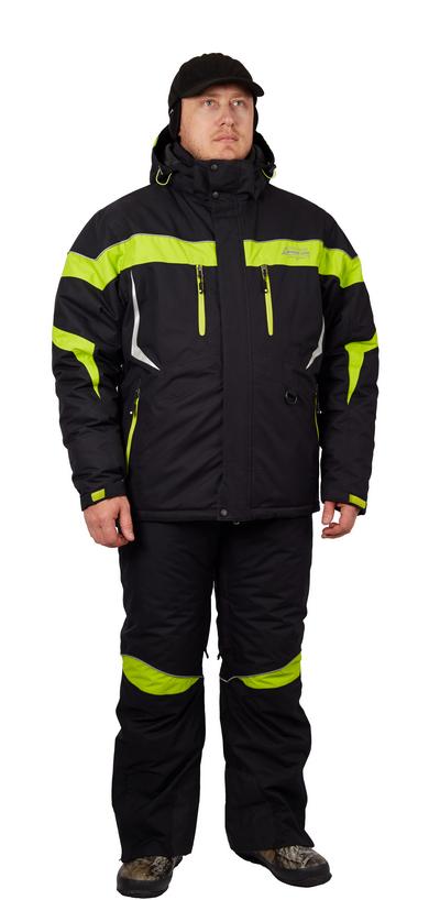 Костюм рыболовный зимний NELSON (куртка+брюки)  (BLACK, XXL)