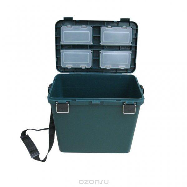Ящик-М зимний односекционный HELIOS зеленыйЯщики рыболова<br>Ящик односекционный - незаменимая вещь <br>на зимней рыбалке. Прочный корпус и наличие <br>специальной крышки с мягким сиденьем из <br>пенополиуретана позволяют использовать <br>его в качестве удобного стульчика. Материал: <br>ударопрочный и морозостойкий пластик (выдерживает <br>температуру до - 40 градусов), не впитывающий <br>и не пропускающий воду. Ящик выдерживает <br>вес человека до 130 кг. Объем ящика - 19 литров <br>(поместятся снасти, термос, еда или пойманная <br>рыба). В крышке ящика находятся 4 отделения <br>с крышечками для хранения мелочей. В комлекте <br>идет прочный ремень для переноски ящика. <br>Размер: 38х32х26см. Вес: 1,55 кг.<br>